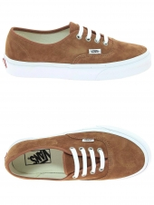 chaussures de skate vans authentic marron