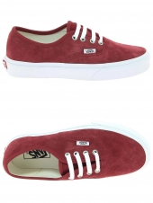 chaussures de skate vans authentic rouge