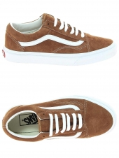 chaussures de skate vans old skool marron
