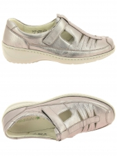 chaussures plates waldlaufer 607501 125 090 k or/bronze