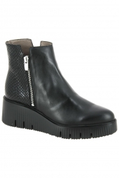 bottines de ville wonders e6224 noir
