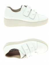 chaussures plates wonders a-8321 blanc