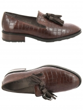 chaussures plates wonders b7209 marron