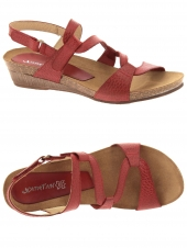 nu-pieds style casual xapatan 2164-2364 rouge