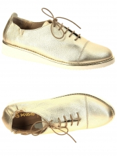 chaussures plates xsa 9535-478 or/bronze