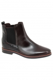 bottines de ville ykx 54a012 bordeaux